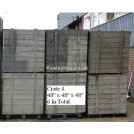 Large wood packing crates
