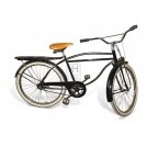 Black American Bicycle with pannier rack