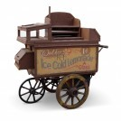 Brown Lemonade Sellers Cart
