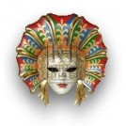 Over-sized Venetian Mask