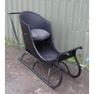 Single Seat Black Sleigh