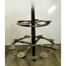 Large double iron chandelier