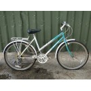 Ladies Green White Bicycle