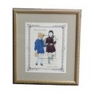 Framed French Fashion Plate #2