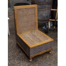Oriental Wicker Box Seat Chair