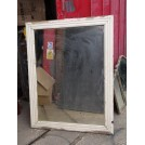 Vintage White Wooden Framed Mirror