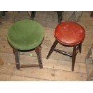 Green Velvet topped Stool