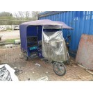 Covered Blue Tuk Tuk Rickshaw