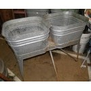 Double galvanised sink unit
