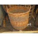 Stiped Wicker Bin Basket