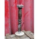 Large Turned Wooden Candlestick
