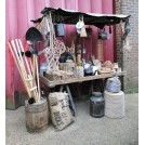 Trestle market stall dressed - Hardware