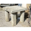 Rough Wooden Square Games Table