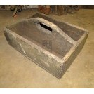 Shallow wood tool box