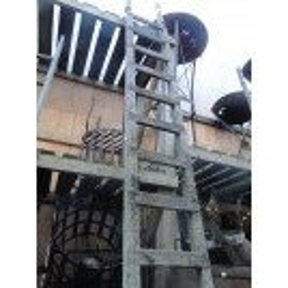 Rough wood ladder