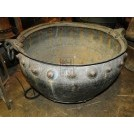 Large copper cauldron with studs