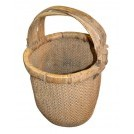 Woven rattan basket with 3 handles
