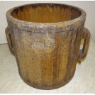 Large wood tub with handles
