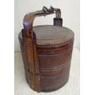 Oriental woven food tub with handle