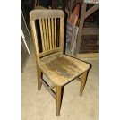 Worn slatted simple wood chair