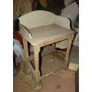 Old worn wash stand