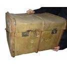 Large worn luggage trunk