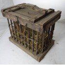 Flat top wood chicken cage