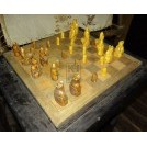 Wood chess board with pieces