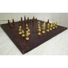 Early chess set with pieces