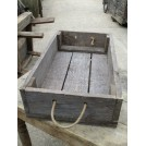 Wooden Crate with Rope Handle