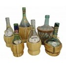 Rattan covered bottles