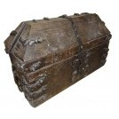 Small dark wood chest
