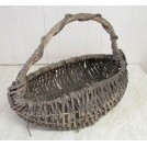 Twisted wicker hand basket