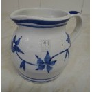 White china delft blue jug