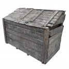 Very large aged wood corn bin