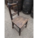 Simple dark wood chair
