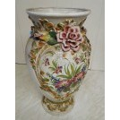 Large china vase with flowers