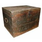 Large Flat Top Wooden Chest with Handles