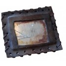 Broken Leather Framed Mirror