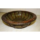 Woven wood bowl