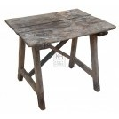 Old Wood Table With Diagonal Braces