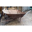 Large metal wheelbarrow