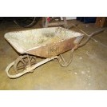 Metal wheelbarrow # 1