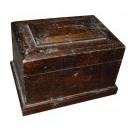 Small Shaped Dark Wooden Box