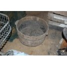 Large Wood Iron Bound Tub