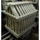 Wooden Animal Cage with Sloped Lid