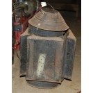 Worn Lantern with Glass Sides