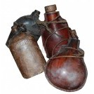 Various Leather Drink Flasks