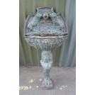 Bronze freestanding wall fountain