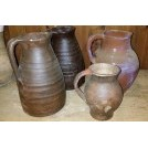 Assorted ceramic jugs
